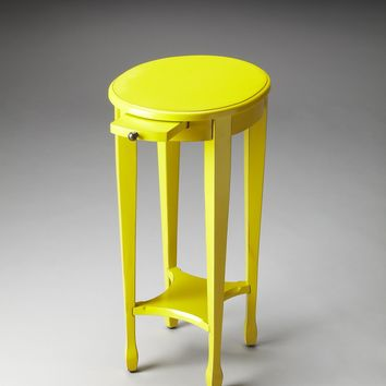 Arielle Yellow Round Accent Table by Butler Specialty Company 1483289