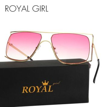2017 ROYAL Women Sunglasses Unique Oversize Frames Vintage Metal