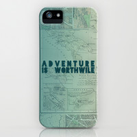 Aristotle: Adventure is Worthwile iPhone & iPod Case by Leah Flores