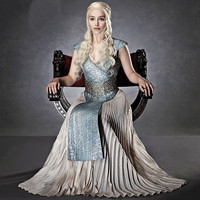 Game of Thrones Daenerys Targaryen Queen cosplay Movie costume Halloween Costumes for women fancy dress