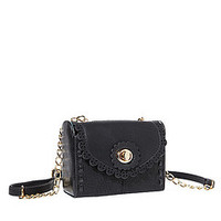 Big Buddha Harper Black Vegan Crossbody Bag