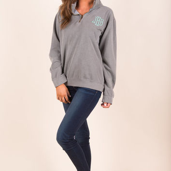 The Warm Up Comfort Colors Pullover, Gray