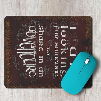 Rectangle Mouse Pad The Lord Of The Rings Quote Adventure Vintage