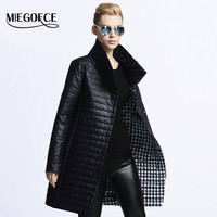 MIEGOFCE 2016 New spring jacket women winter coat women's clothing warm outwear Cotton-Padded long Jacket coat Slim trench coat