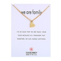 Gold Heart Card Alloy Clavicle Pendant Necklace  171208