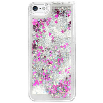 GLITTER WATERFALL IPHONE CASE SILVER