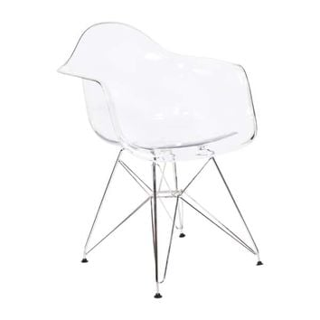 Molded Plastic Armchair | Overstock.com Shopping - The Best Deals on Dining Chairs