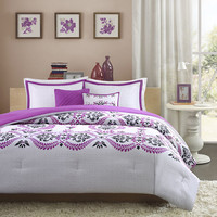 Intelligent Design Becky Floral Scroll Comforter Set - JCPenney