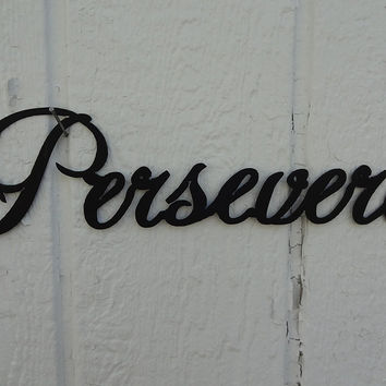 Persevere Word Decorative Metal Wall Art
