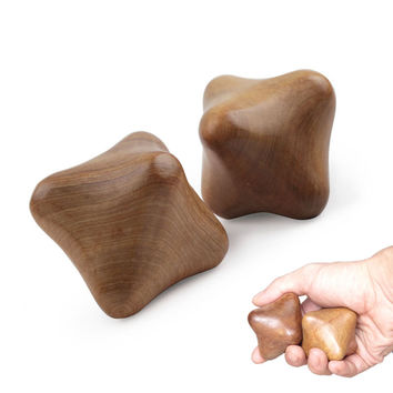 Hexagonal Hand Massager Vietnam Wood Massager 2 in 1 Set