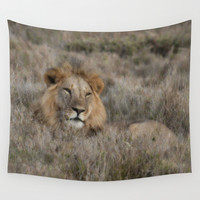 The Lion Is King Wall Tapestry by Minx267