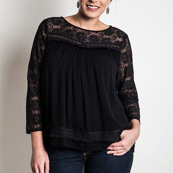 Lace Baby Doll Top