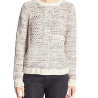 Banana Republic Factory Patchwork Marl Sweater