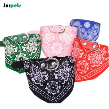 Pet Accessories Dog Collar Scarf Fabric Adjustable Pet Dog Bandana Puppy Triangular Printed Scarf for Small Large Dogs Cats