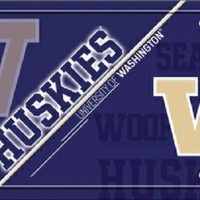 Washington University Huskies  Football License Plate