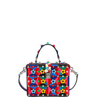 Dolce & Gabbana Dolce Box Maiolica-Print Top-Handle Satchel Bag, Multi