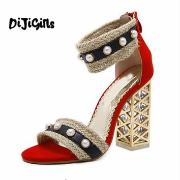 women's sandals Summer shoes Gladiator Sandals Women High Heels Sandals Party Wedding Shoes Ladies Sandals