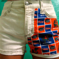 Super Sale: University of Florida Gators High Waisted Jean Shorts
