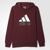 adidas Sport Essentials Logo Fleece Hoodie - Brown | adidas US