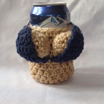 Can Babe, removable bikini, can cozy,  boobs, beer cozy, funny gag gift