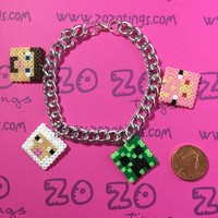 Minecraft Pixel Bracelet by Zo Zo Tings