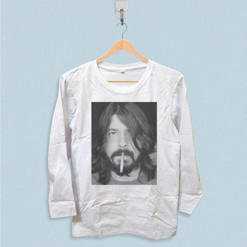 Long Sleeve T-shirt - Dave Grohl Smoking