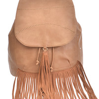Khaki Fringe Backpack | The Handmade Hustle Exclusive Find