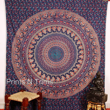 Large Elephant Mandala Tapestry Hippie Tapestries Wall Tapestries Tapestry Wall Hanging Indian Tapestry Bedspread Bohemian Bedding bed Sheet