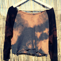 Etsy Transaction -        Crop Top, Baseball style, Boho Navajo Hippie, Tie Dyed  (M/L, Charcoal Heather)