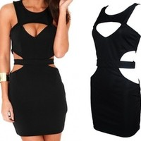 free shipping 2013 hot hot new arrrvial Sabiha Multi Cut Out Bodycon Dress notu20130554