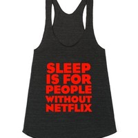 No Sleep-Female Athletic Tri Black Tank
