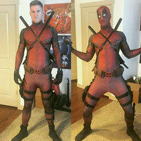 Movie The Avengers Deadpool Cosplay Costume Original Edition Clothing Dyeing Printing Tights Corset Good Permeability Suit