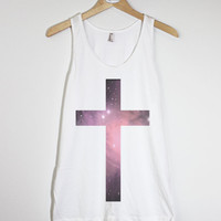 Galaxy Cross - American Apparel Unisex  Fine Jersey Tank Top
