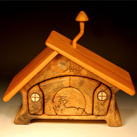 Hackberry Hobbit House Jewelry Box with special hiding place (HHH-11)