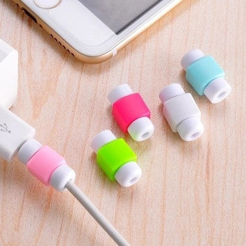 5pcs lot Data Line Protection Case coil protective cover for charging cable protection