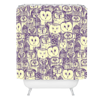 Sharon Turner just owls Shower Curtain