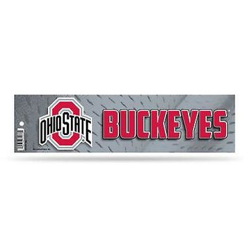 """Licensed Ohio State Buckeyes Official NCAA 11"""" x 3"""" Bumper Sticker OSU by Rico Industries KO_19_1"""