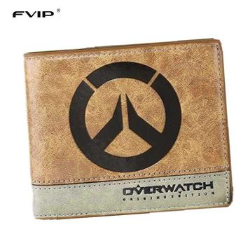 Cool Attack on Titan FVIP Japanese Anime Poke/ Death Note/ / One Piece/ Overwatch Wallet With Coin Pocket Zipper Poucht Billetera AT_90_11