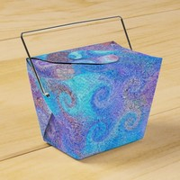Sea Blue Curls Favor Box