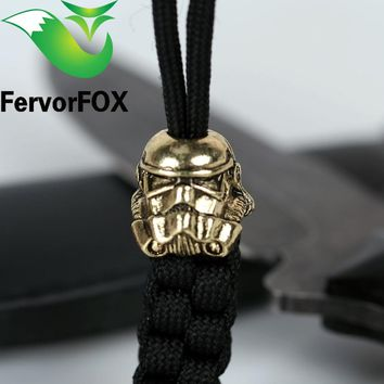 Paracord Beads Metal Charms Skull For Paracord Bracelet Accessories Survival,DIY Pendant Buckle for Paracord Knife Lanyards