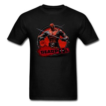 Lasting Charm Marvel Deadpool Sports T Shirt Black Men Fabric Fitness Sports T-shirt Clothes Punk Band