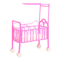 Dolls Baby Bed For Princess Dollhouse Plastic Mini Cute Bed Doll House Furniture Toy Fantasy Sweet Dream Bedroom Accessories