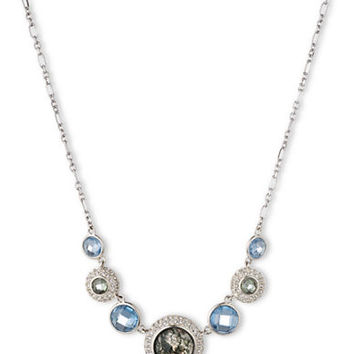Judith Jack Sterling Silver and Mixed Stone Frontal Necklace