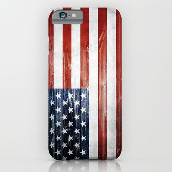 American Wooden Flag iPhone & iPod Case by Nicklas Gustafsson