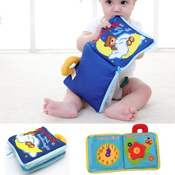 Super Hot Sale 12 pages Soft Cloth Baby Boys Girls Books Rustle Sound Infant With Zipper Side Educational Stroller Rattle Toys