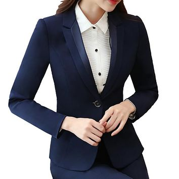 Blazers Women's Single-Button Suit Jacket New 2017 Casacos Femininos Basic Jackets Slim Blazer Suits For Woman