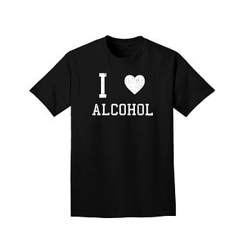 I Heart Alcohol Adult Dark T-Shirt