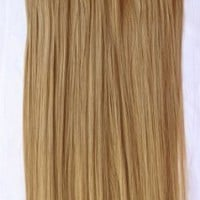 """PRETTYSHOP 24"""" 120g Set 7pcs Full Head Clip In Hair Extensions Hairpiece Straight Heat-Resisting Diverse Colors (sandy blonde 16T22T)"""