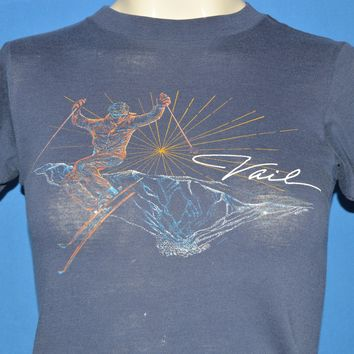 80s Vail Skiing Neon Sunset Mountain t-shirt Youth Large