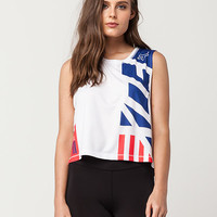 FOX Red White And True Womens Muscle Tee | Graphic Tees